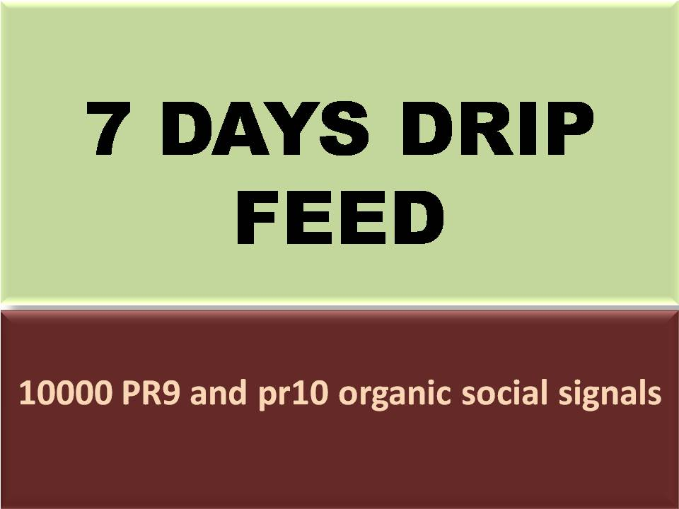 we will submit 7 days drip feed with 10000 hq quality social signals for daily update