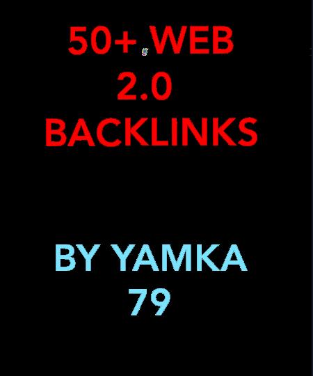 provide 50+ web 2.0 back links/back link