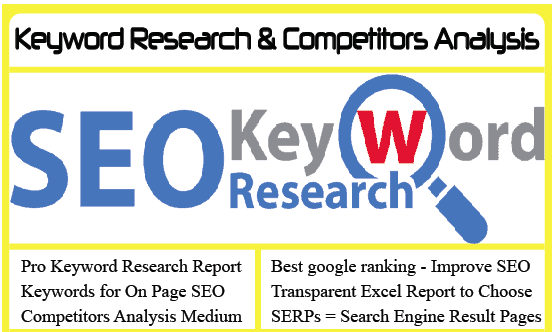 SEO Keywords research and analysis for your business