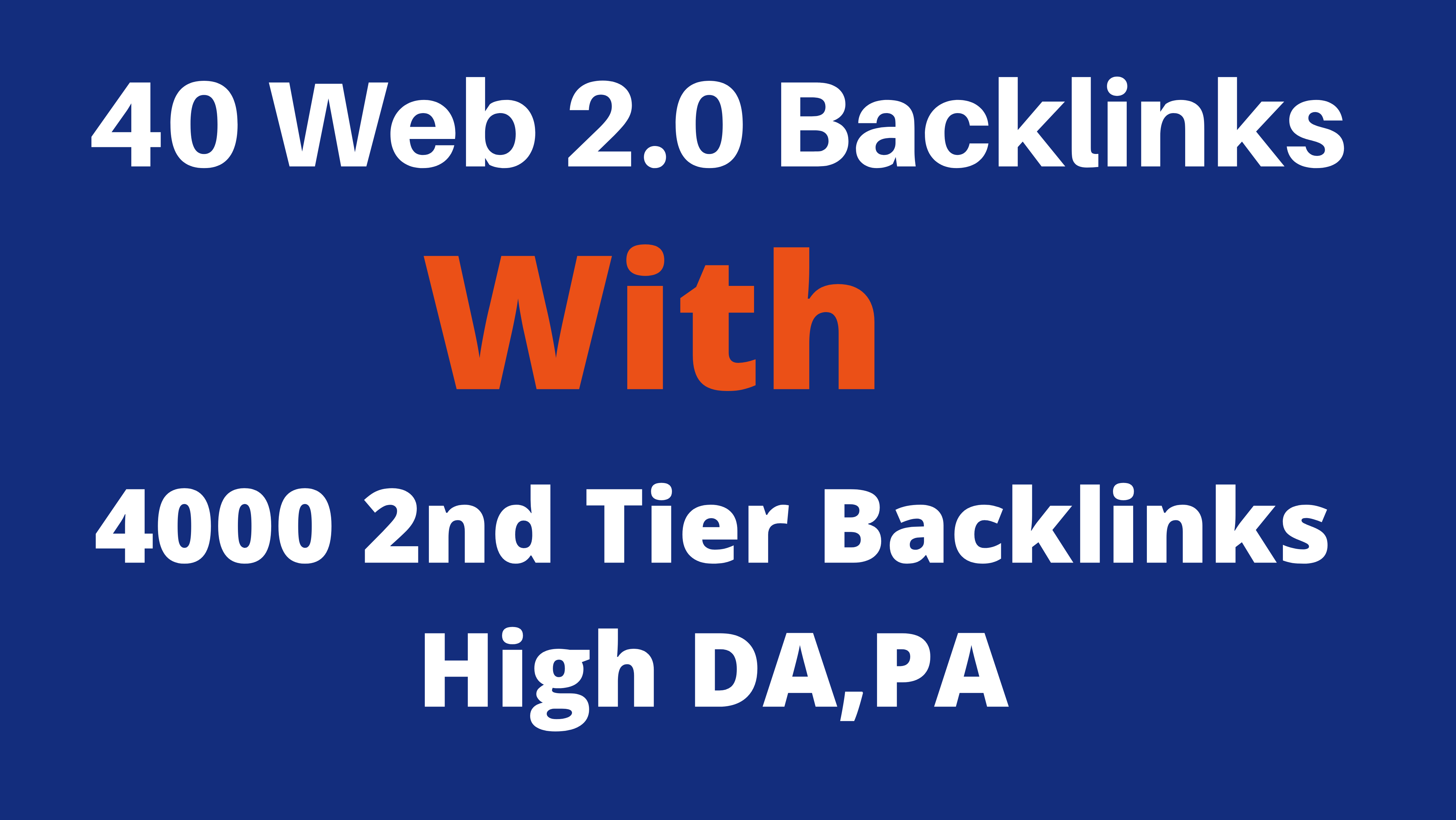 40 Web 2.0 Blog With 4000 2nd Tier Backlinks High DA, PA