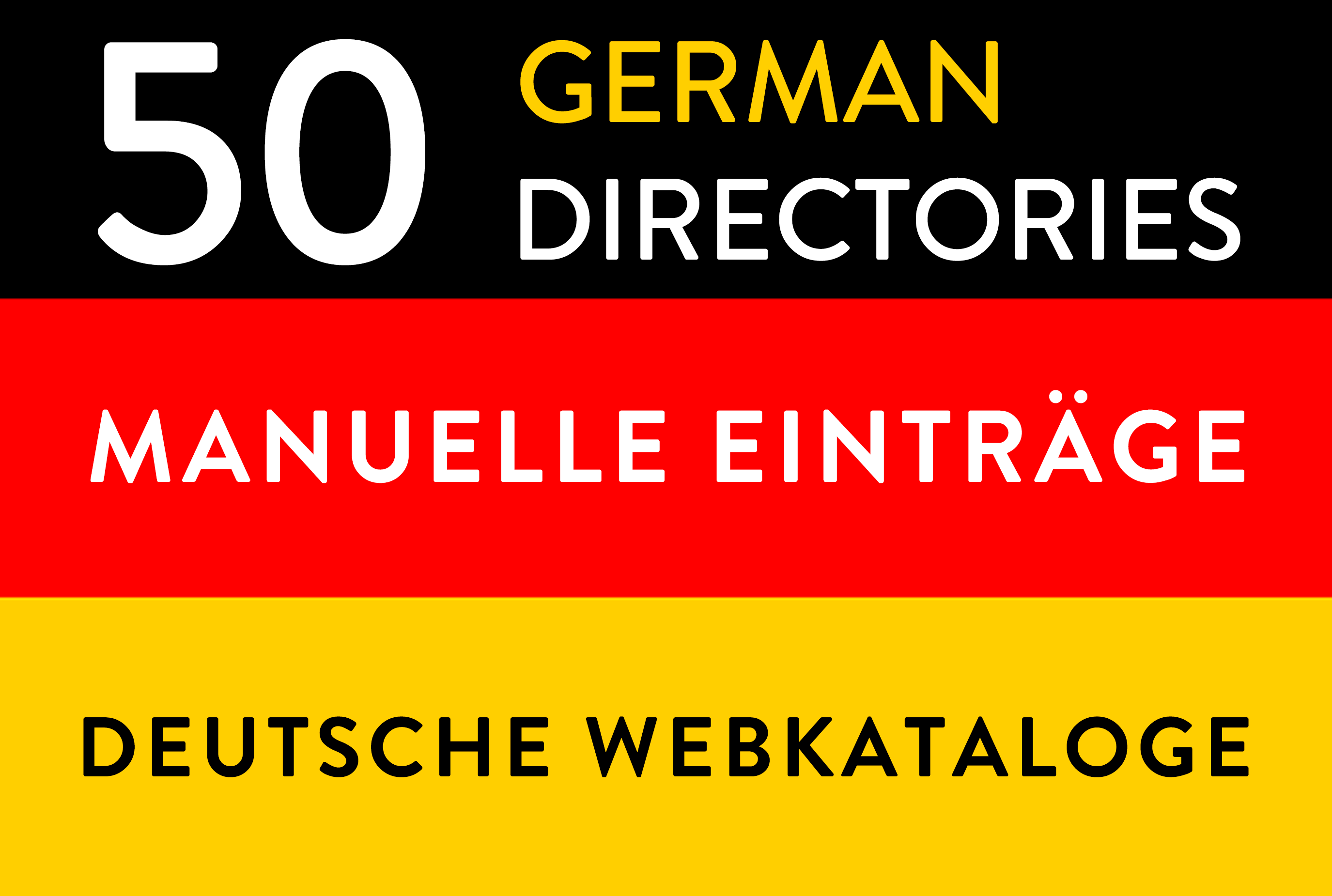 Manual submissions to 50 german deutsche directories webkataloge backlinks link building seo