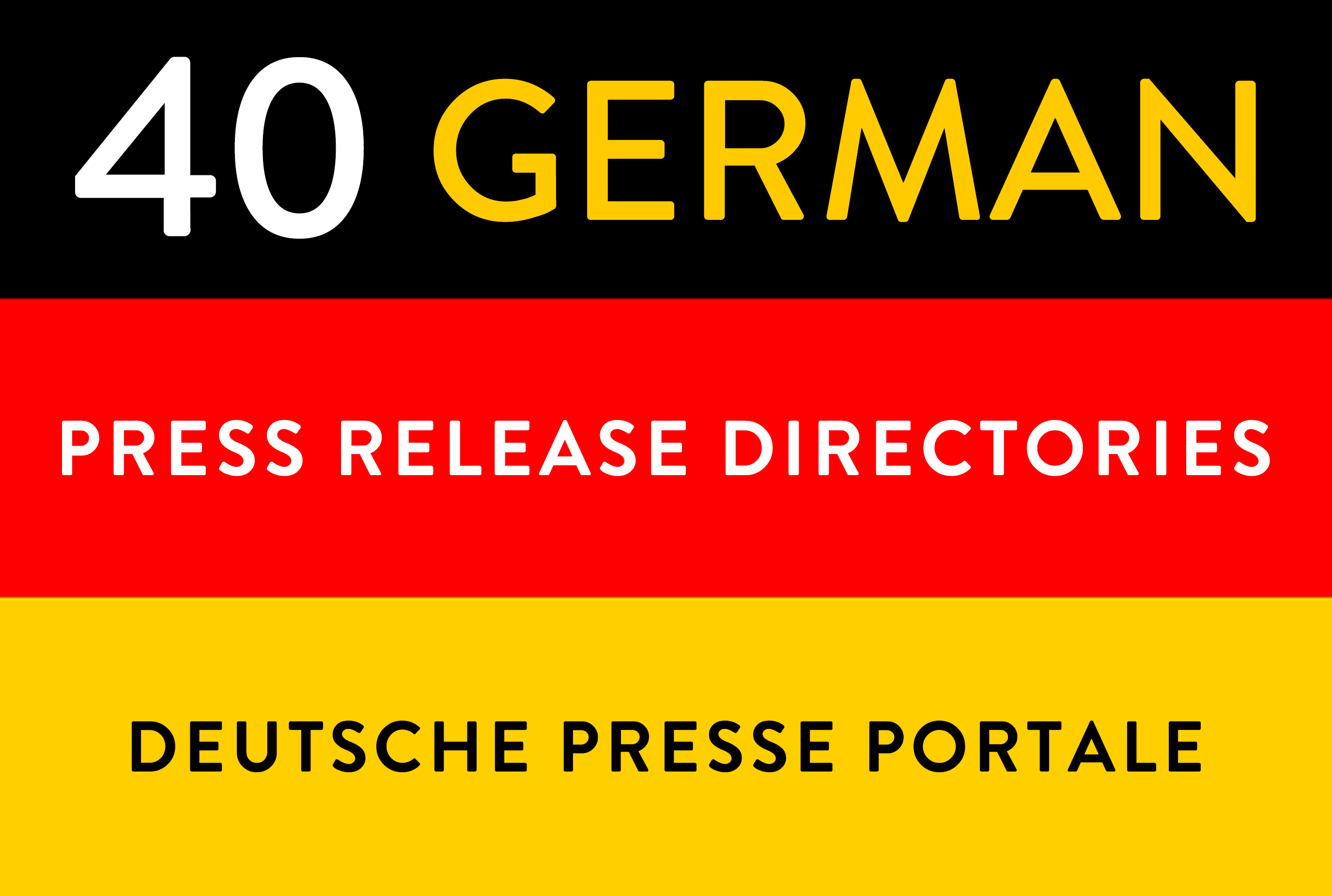 Manual submissions to 40 german deutsche press release directories backlinks seo link building