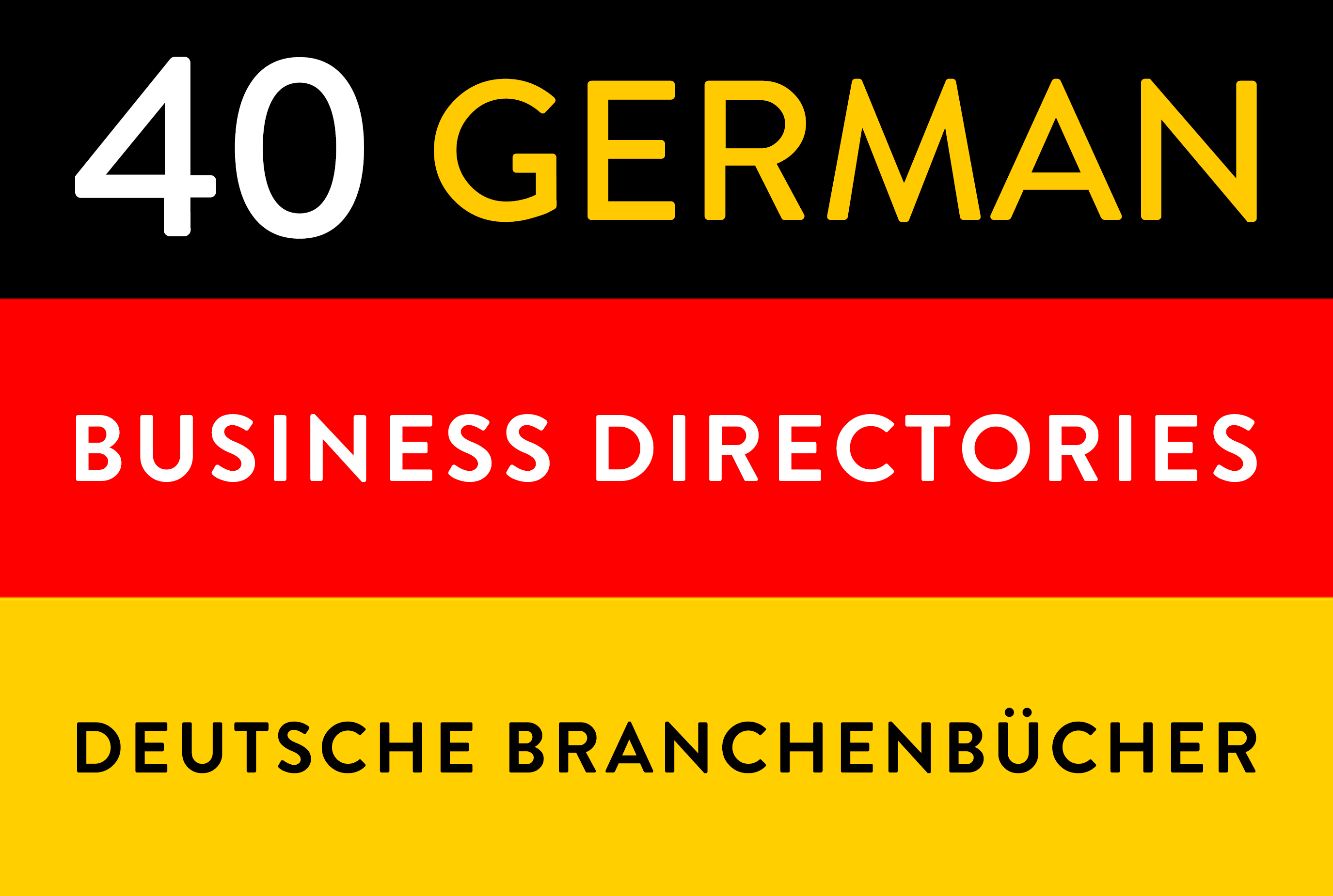Manual submissions to 40 german deutsche business directories backlinks seo link building citations