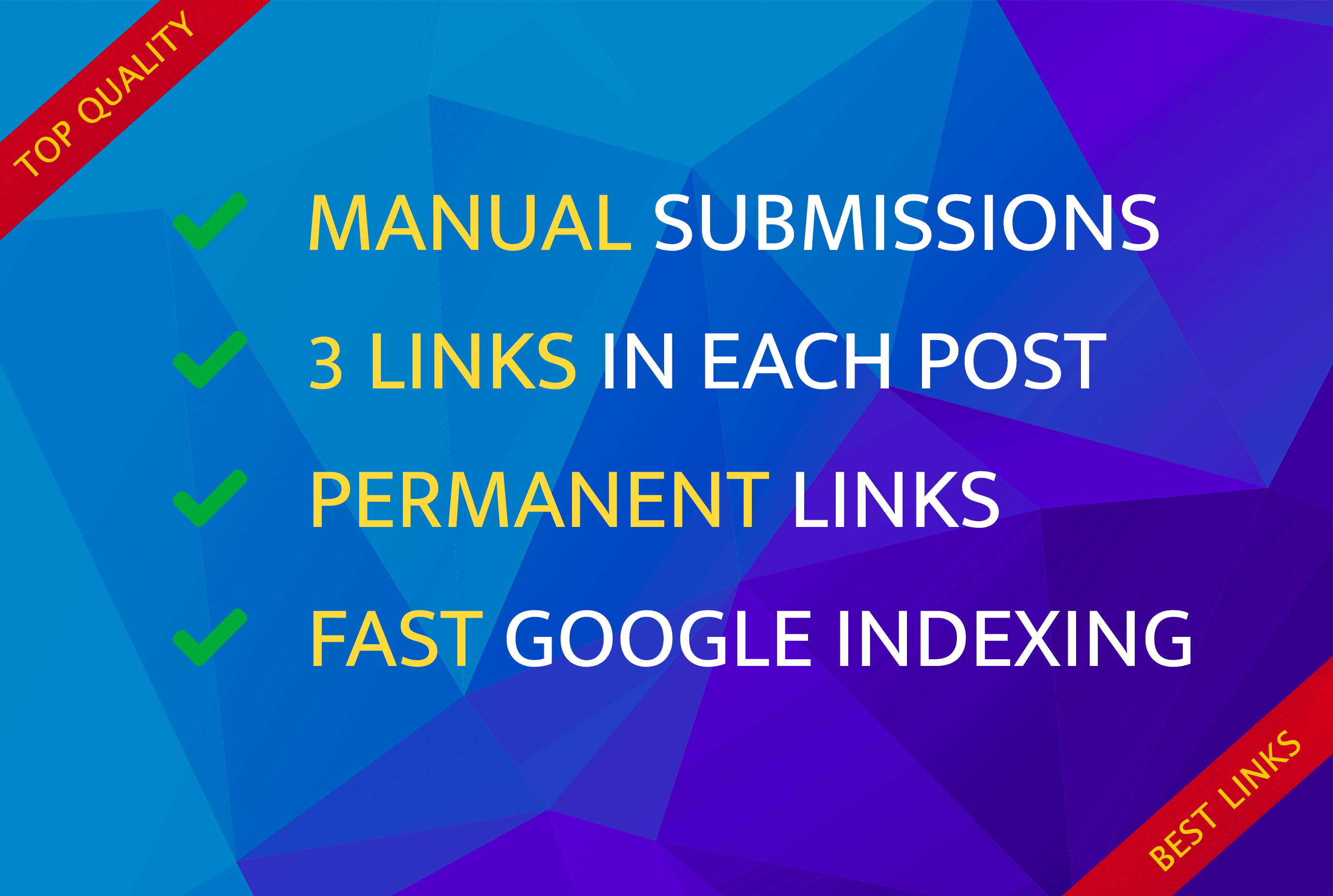 Manual submissions 100 blog posts and 300 backlinks english seo link building pbn