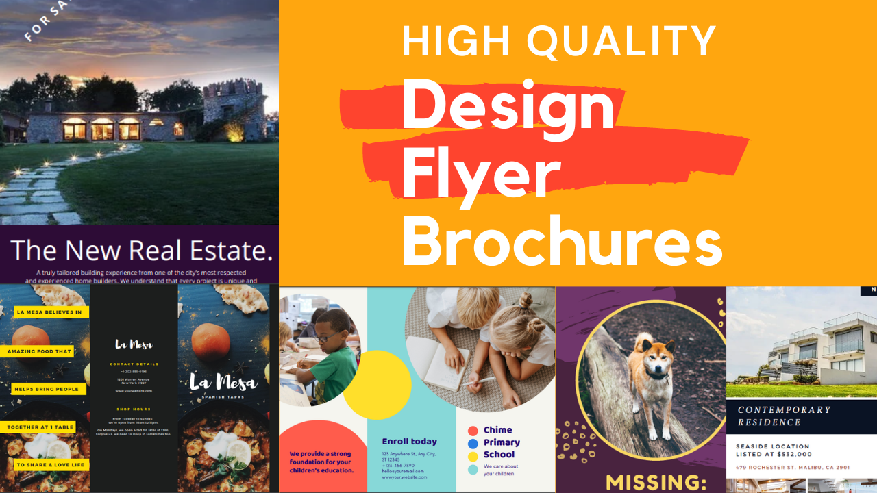 I will design awesome flyer or brochure for your business