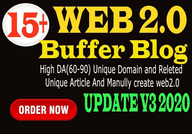 I will 15 manual web2 0 super buffer blog high authority backlinks