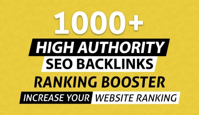 I will build 1000 PR9 high DA dofollow SEO backlinks