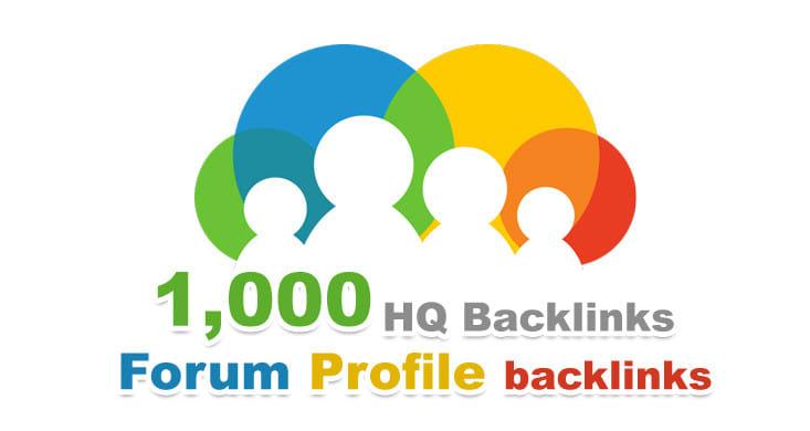 I will do 1000 Forum profiles backlinks Manually