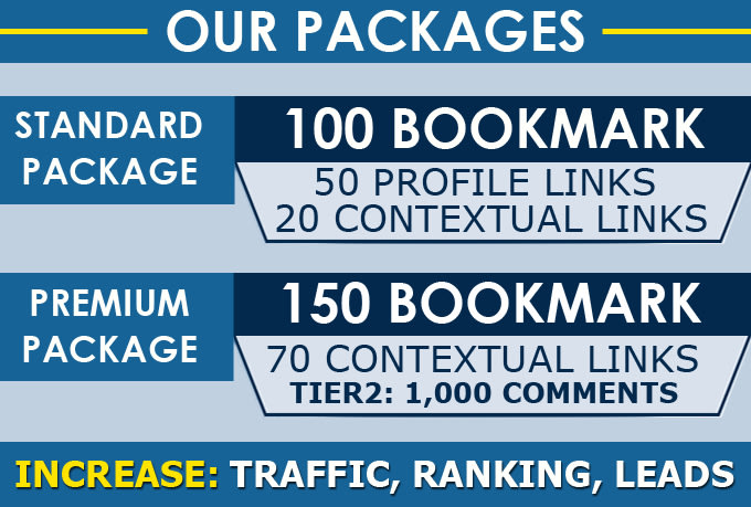 manually 50 bookmark submission backlinks,