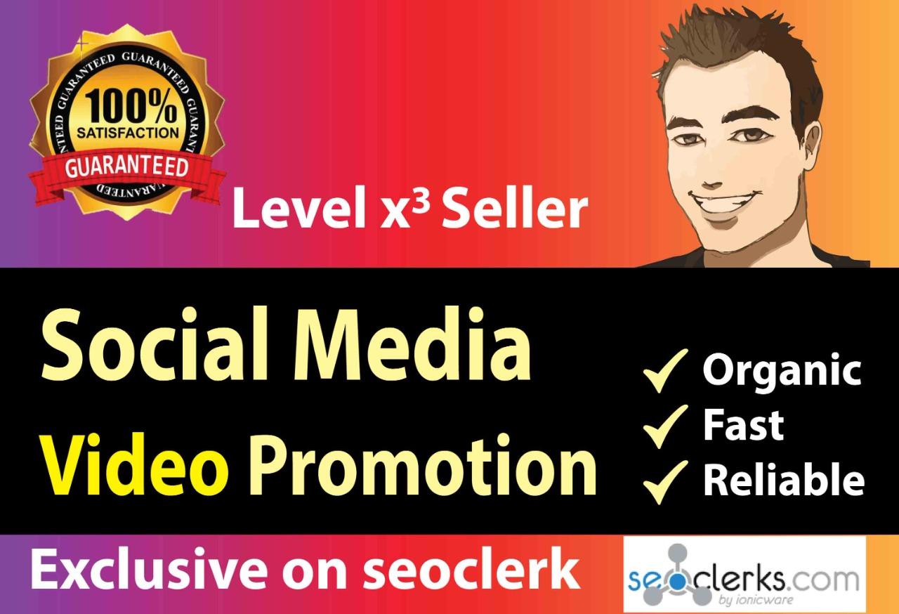 Fast social media video promoting service organic & superfast