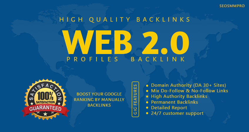 Do Most Effective 800 Web 2.0 Profiles Backlinks For Your Website