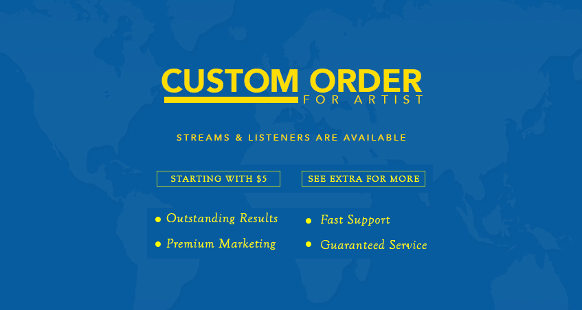 Custom Order for 1OOO Monthly Listeners