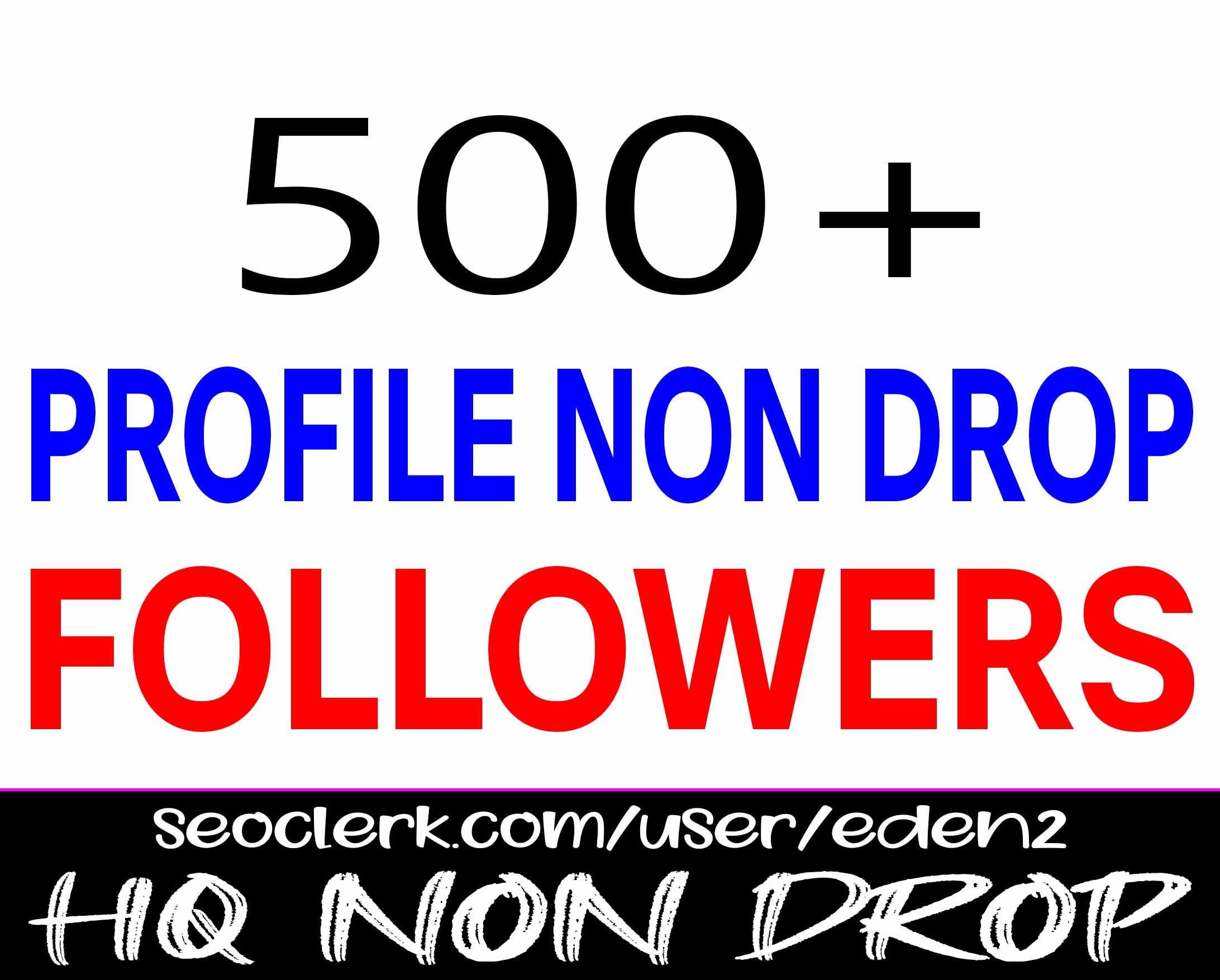 ADD 500+ PROFILE FOLLOWERS NON DROP AND REAL HIGH QUALITY PROMOTION WITH INSTANT START