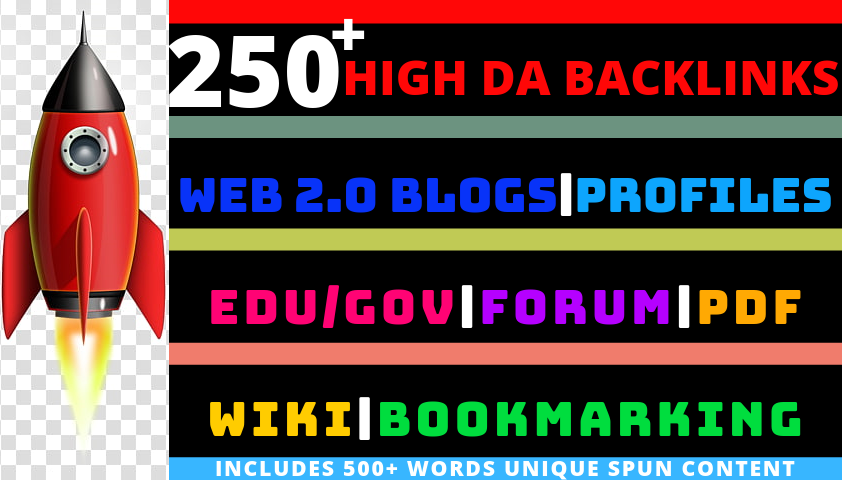 250+ High DA Backlinks. All-In-One SEO Pack.