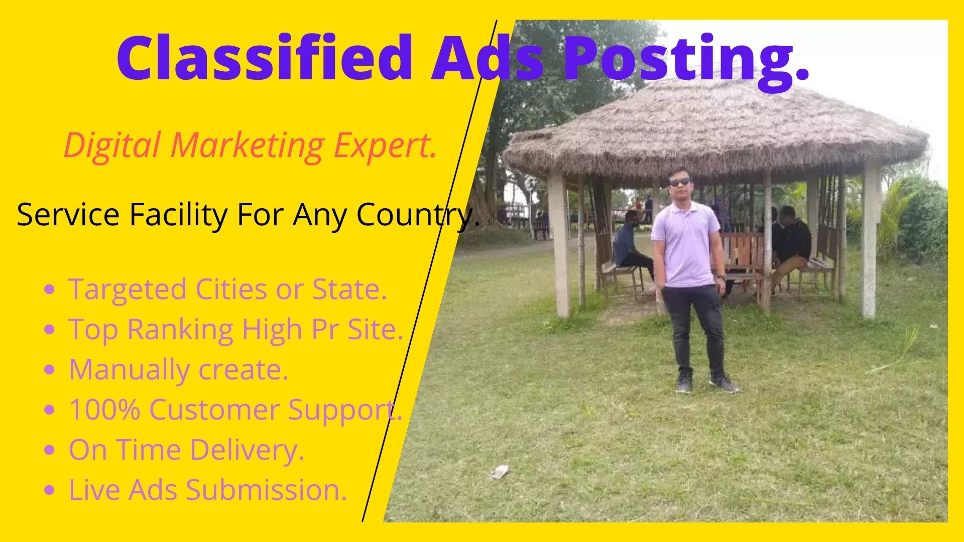 Prepare 20 Classified Ads posting Services