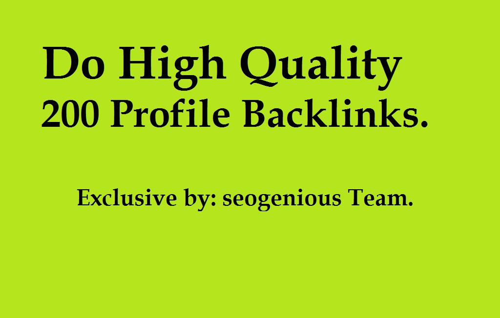 Do High Quality 200 Profile Backlinks