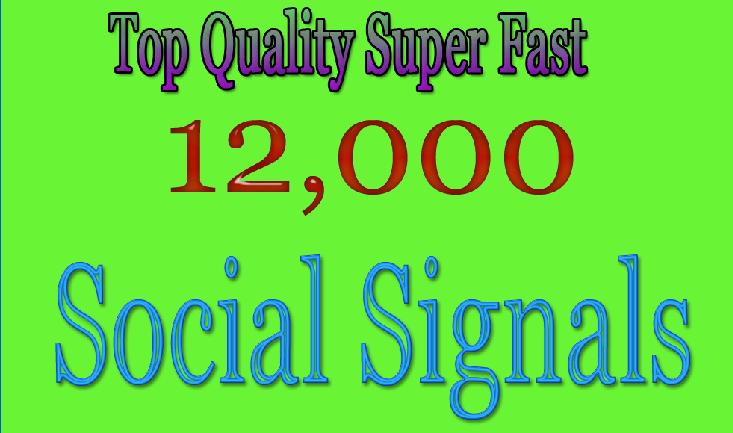 Super Fast Google Rank 12,000 HQ SEO Social Signals