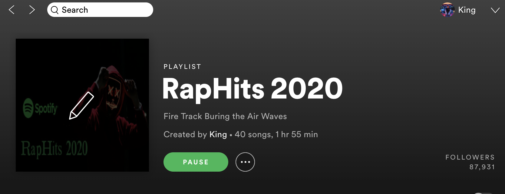 RapHits 2020 Playlist Over 11,500 Fans add song now