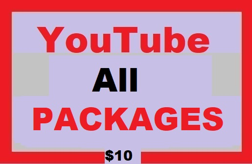 Youtube Video All Packages Promotion and Social Media Marketing Worldwide User
