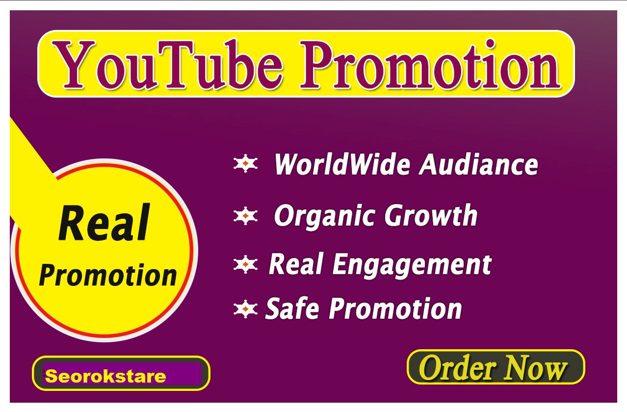 YouTube Video Promotion Complete 24-48 Hours