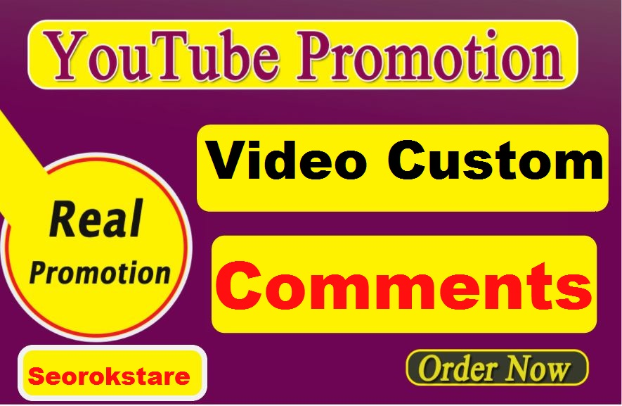Video Custom Comments Or Video Related And Video Promotion
