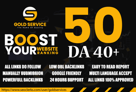 domain authority 40 plus unique do follow blog comments service