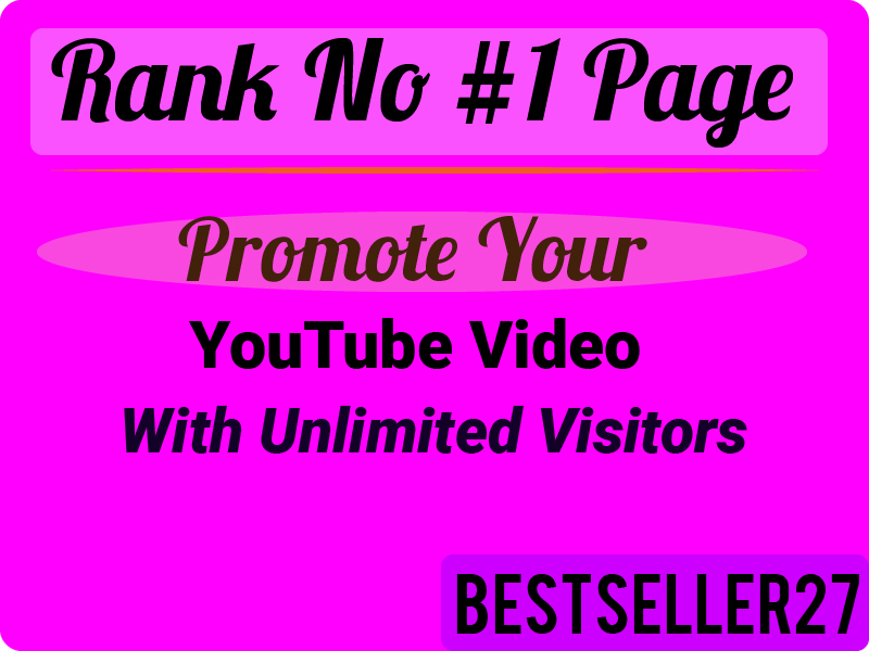 Real and Active audience YouTube Video Promotions