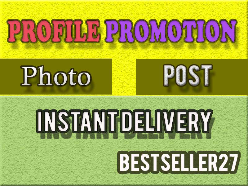 I will Promote your profile with Organic promotion