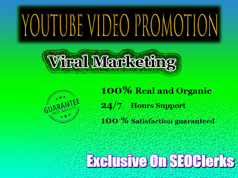 Promote your YouTube video Organic Promotion Real visitors