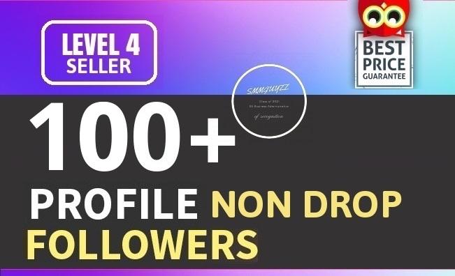 Add 100+ High Quality Fast Profile Followers NON DROP