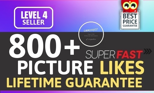 800+ Likes Promotion With Lifetime Guarantee