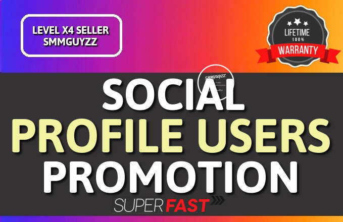Get HQ Social Profile Followers Promotion