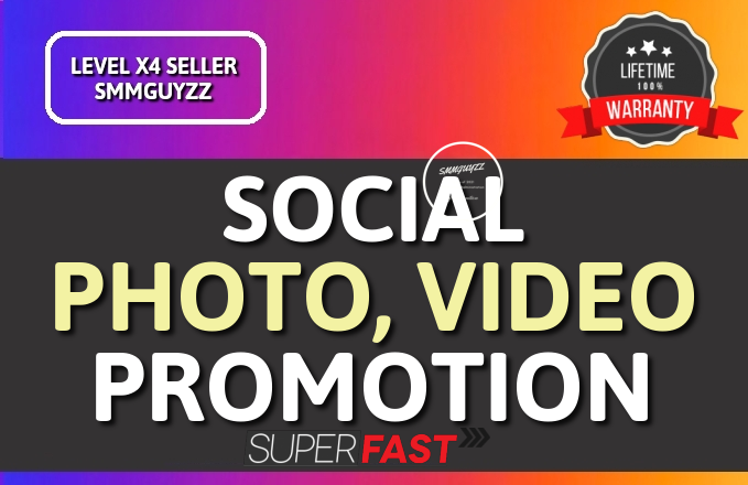 Get Photo OR Video Real High Quality Promotion