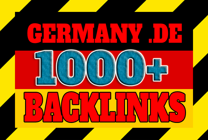 Get 1000+ Germany based backlinks from local DE domains