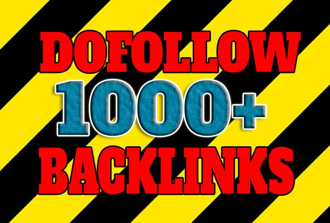 Get 1000+ dofollow only seo backlinks