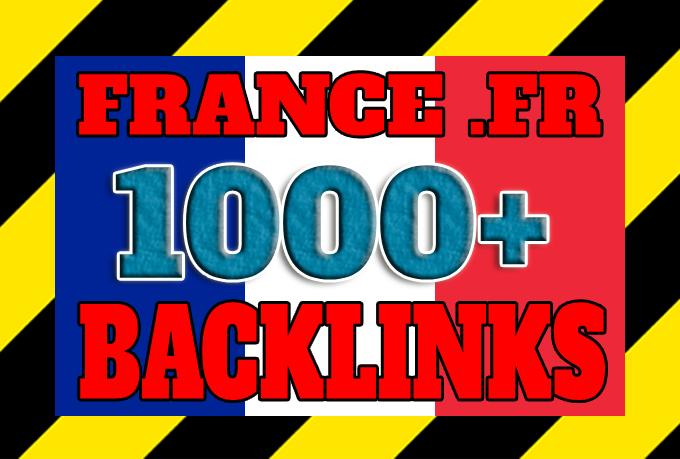 Get 1000+ France based backlinks from local FR domains
