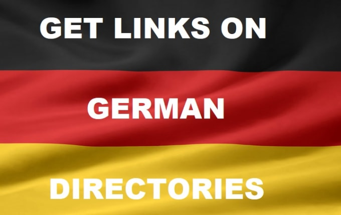 I will provide 3,  6 or 10 links on German directories for SEO Germany