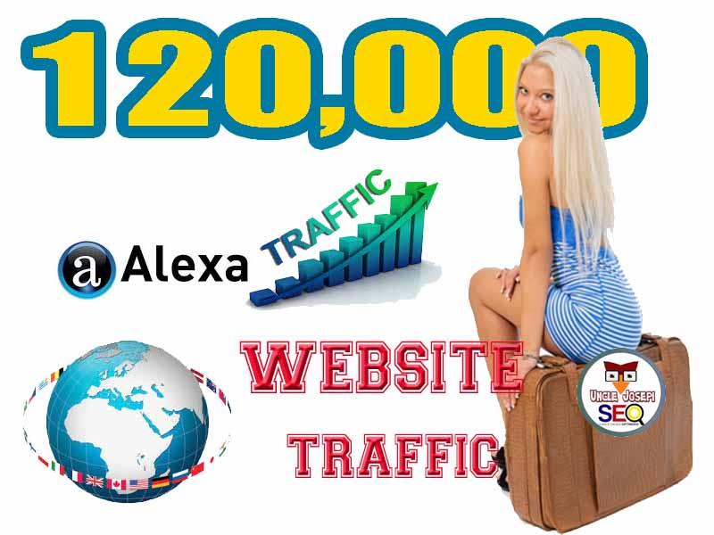 5000 Non Stop Organic Web traffic- Targeted Keyword- Boost Alexa Rank