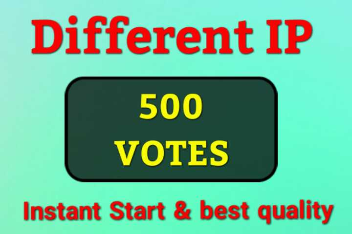 I'll Give Amazing 500 Different IP Votes For Any Online Voting Contest Polls