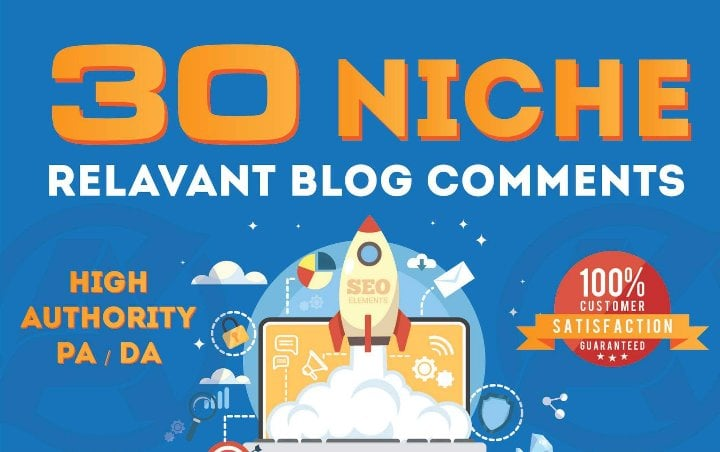 I will make 30 high quality niche relevant blog comments backlinks
