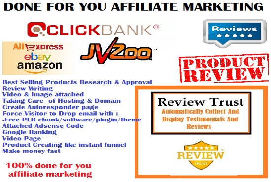 Done all for you affiliate marketing website income guarantee