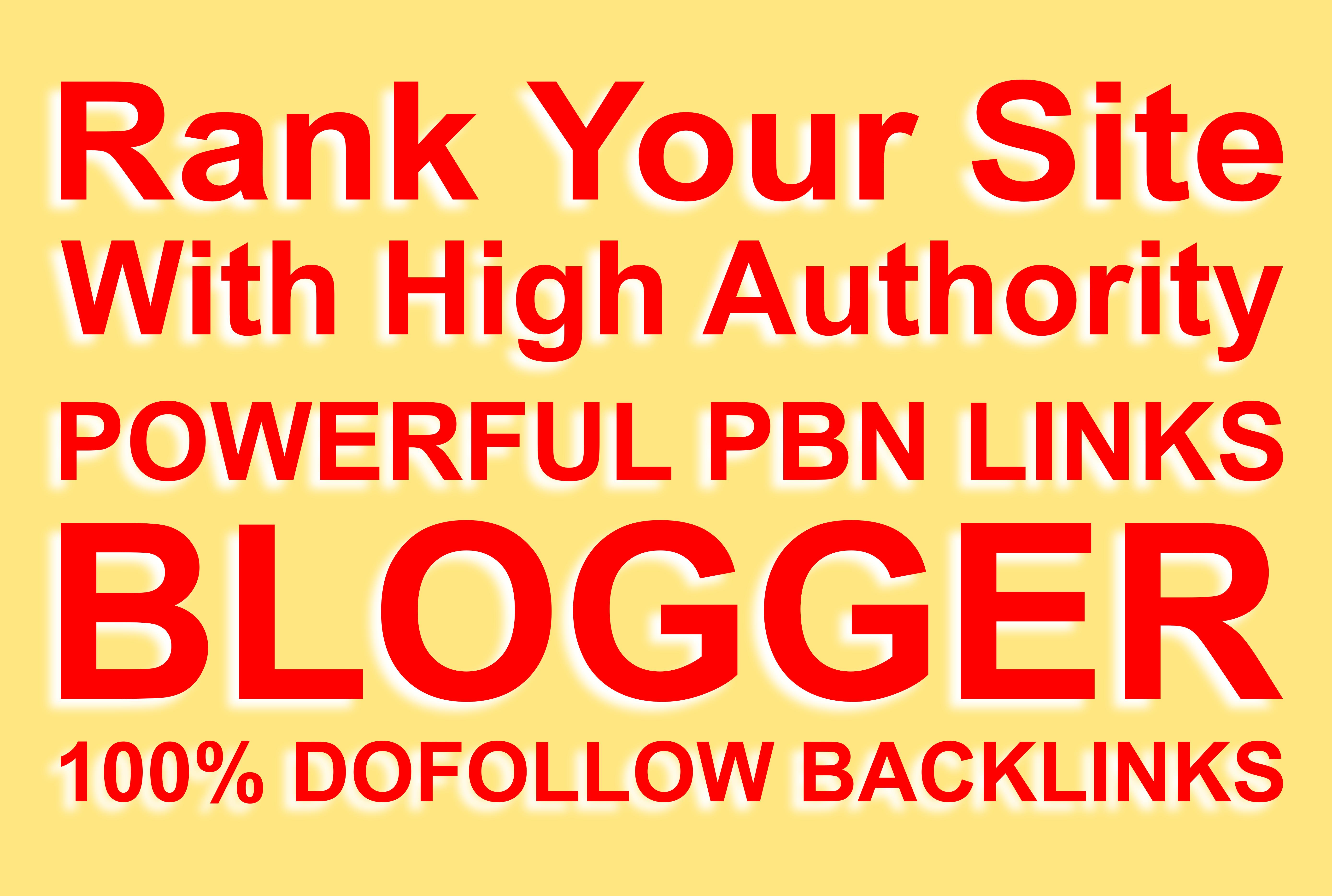 Do 15+ blogger dofollow pbn backlinks manual