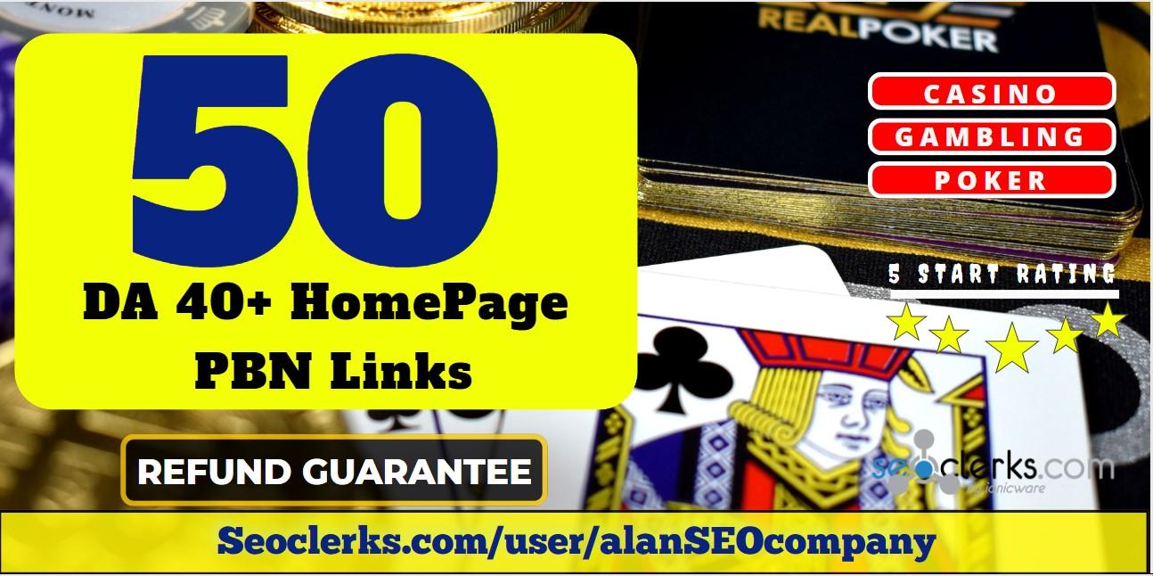Create 100 High Quality HomePage DA 50+ PBN Backlinks