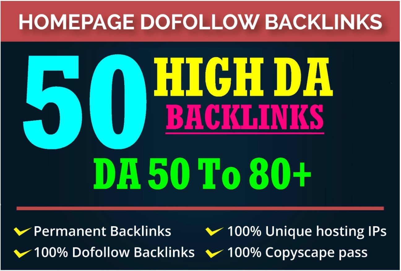 50 High Metrics Manually DA 50-70+ PBN Links