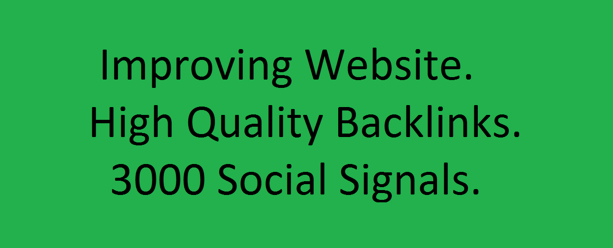 Perfect 3000 High Quality Social Signals Backlinks