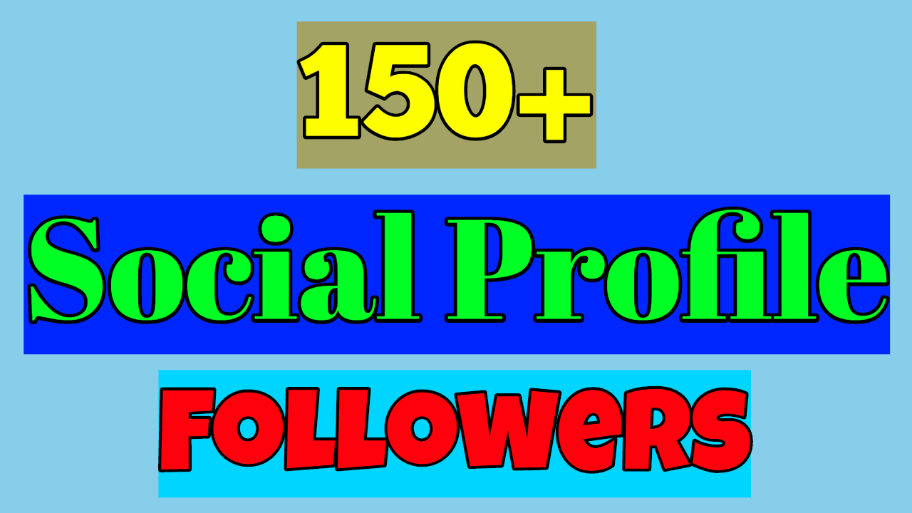 Add 150+High Quality Profile Followers With Lifetimes Guaranteed Just