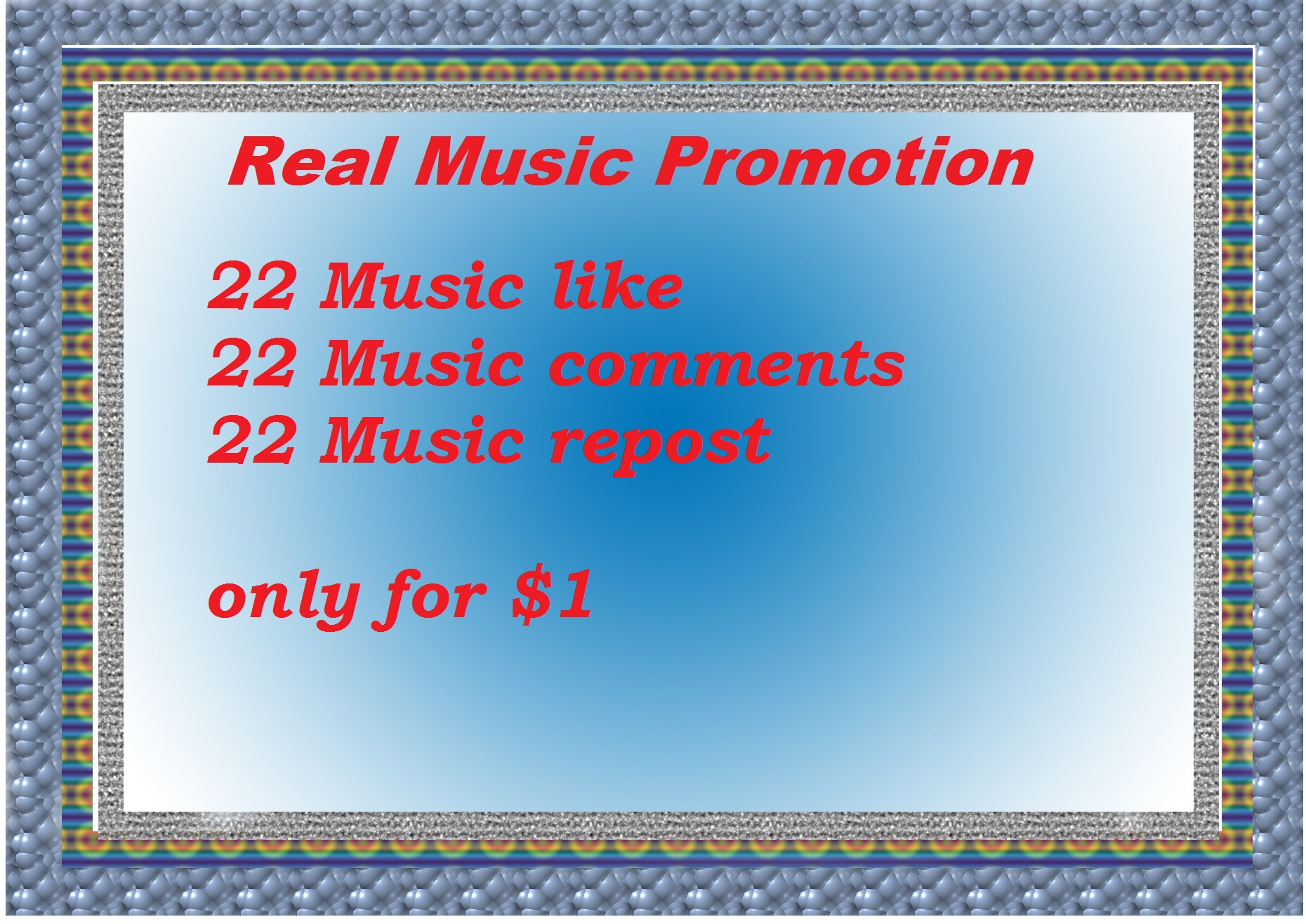 Great Offer Real Music promotion