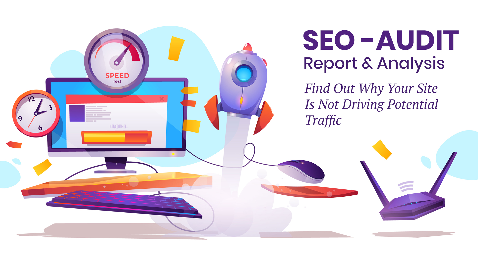 SEO audit,  report,  and analysis