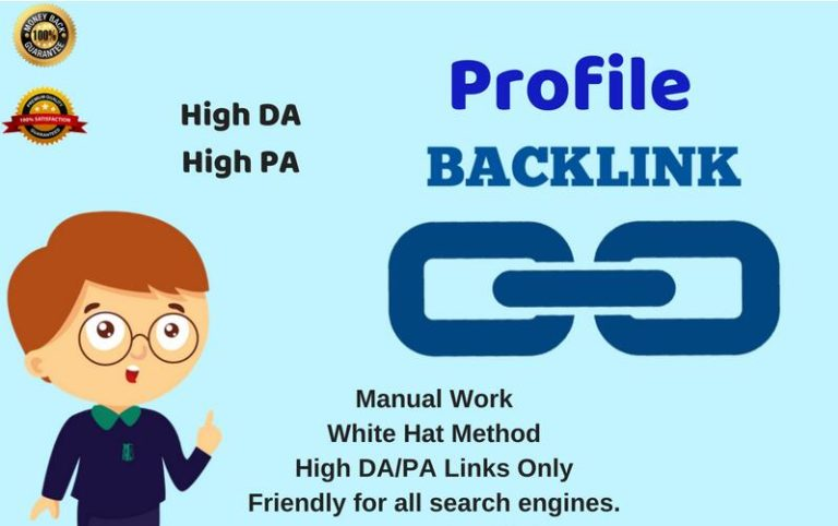 I will do 30 High DA PA Profile Backlinks