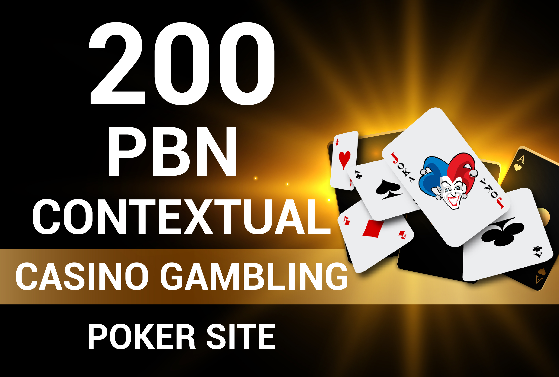 Rank1 Your webiste Casino Poker Gambling with 800+200 Contextual Backlinks
